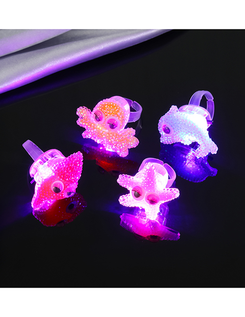 Fashion The Style Will Be Sent Randomly At 1 Price (charged) Cartoon Marine Animal Glowing Ring