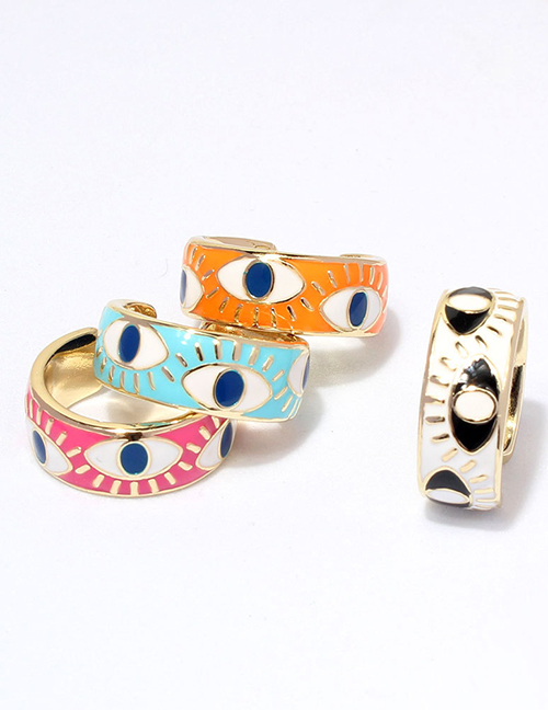 Fashion White Gold-plated Copper Dripping Eye Ring