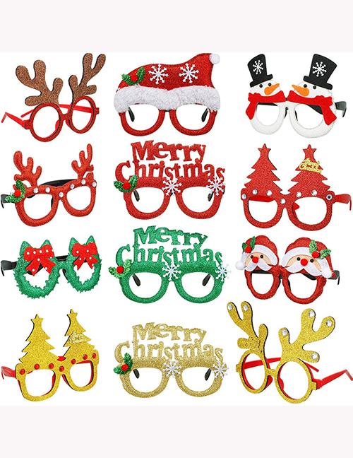 Fashion Hoho Christmas Wreath Christmas Hat Letters Snowman Geometric Glasses