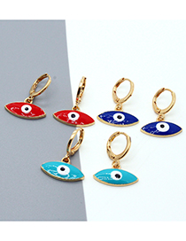 Fashion Red Dripping Eyes Alloy Geometric Earrings