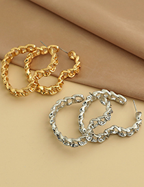 Fashion Gold Color Alloy Chain Love Earrings