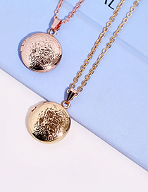 Fashion Silver Color Lovers Round Photo Box Copper Gold Plated Pendant Necklace