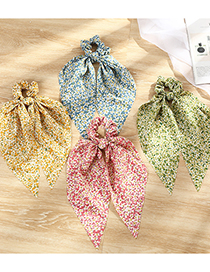 Fashion Green Long Tassel Print Large Bowel Hair Rope