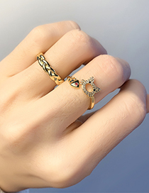 Fashion Twist Threaded Real Gold Plating Twist Cat Open Ring