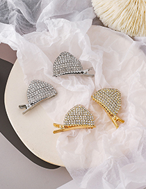 Fashion Golden (a Pair) Full Diamond Cat Ear Alloy Hairpin