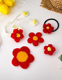 Fashion Bracelet Flower Contrast Woven Hairpin Bracelet Brooch