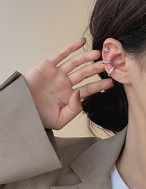 Fashion Curved Ear Clip Gold (single) Geometric Alloy Hollow Out Ear Clip Without Pierced Ears
