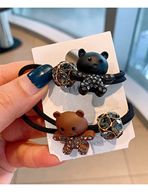 Fashion Coffee Color Bear The Ball Is Full Of Diamonds And The Bear Is Thick And Elastic