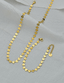 Fashion Necklace Shell Rice Word Chain 18k Gold Stainless Steel Bracelet Necklace