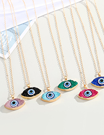 Fashion Pink Resin Eye Pendant Alloy Necklace