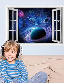 Fashion Starry Sky Starry Sky Planet Universe Galaxy Broken Wall Stickers Decorative Painting