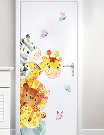 Fashion Rightward Section 30*90cm Watercolor Small Animal Bedroom Living Room Removable Wall Stickers