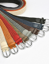 Fashion Zhang Qing Alloy Belt With Twist Wax Rope Pin Buckle