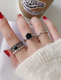 Fashion Love Section Love Heart Alloy Geometric Opening Adjustable Ring