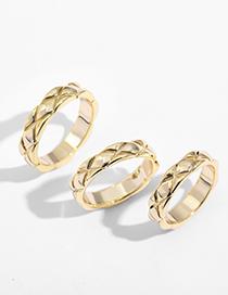 Fashion Number 8 Wavy Edge Glossy Diamond Ring