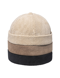 Fashion Beige Particle Velvet Thickened Borderless Landlord Hat