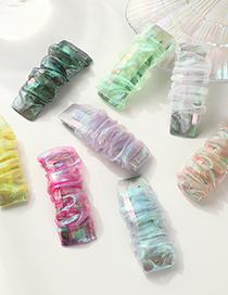 Fashion Colorful Tweed Mesh Lace Geometric Pleated Hairpin