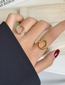 Fashion Round Silver Color Hollow Knotted Opening Adjustable Ring