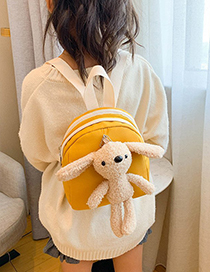 Fashion Red Doll Rabbit Contrast Color Childrens Backpack