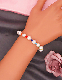 Fashion Section 2 Rice Bead Beaded Pearl Bracelet