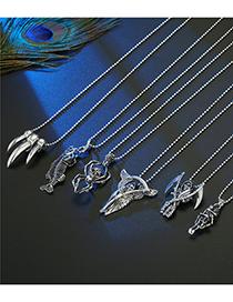 Fashion Scythe Skull Fishbone Skeleton Spider Metal Necklace