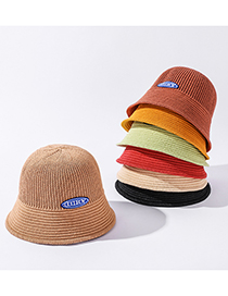 Fashion Fruit Green Linen Knitted Foldable Sun Hat