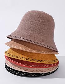 Fashion Yellow Pure Color Sunscreen Fisherman Hat