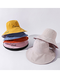 Fashion Orange Embroidered Crown Double-sided Large-brimmed Sunhat
