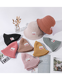 Fashion Fruit Green Milk Silk Pure Color Cloth Label Knitted Fisherman Hat