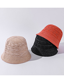 Fashion Beige Wide-sided Arrow Knitted Straw Hat
