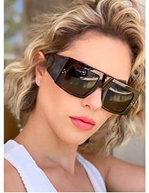 Fashion White/full Gray Square Sunglasses