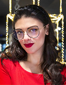 Fashion Leopard Print/anti-blue Light Metal Frame Can Be Equipped With Myopia Anti-blue Light Flat Mirror