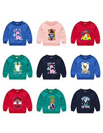 Fashion Green 9 Childrens Cartoon Pullover Sweater 1-7 Years Old