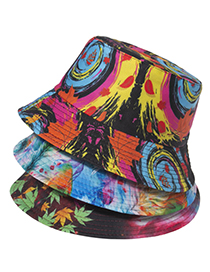 Fashion Section 5 Graffiti Color Double-sided Visor Fisherman Hat