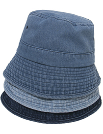 Fashion Light Blue Denim Pleated Fisherman Hat