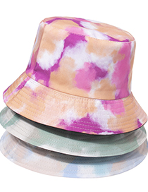 Fashion Rose Red Tie-dye Double-sided Fisherman Hat