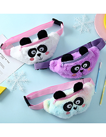 Fashion Pure Purple Big Eyes Plush Panda Shoulder Bag