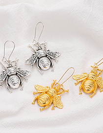 Fashion Ancient Silver Color Alloy Insect Bee Earrings