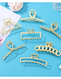 Fashion Butterfly Pearl Clamp Oversized Metal Geometric Hair Grab