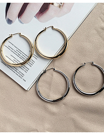 Fashion Gold Color Large Circle Thick Circle Earrings