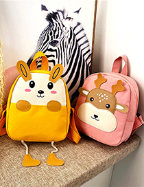 Fashion Two Cow Pink Cartoon Children Backpack