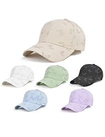 Fashion Light Green American Butterfly Pattern Baseball Cap