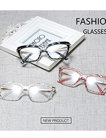 Fashion C7 Red/transparent Transparent Multi-faceted Crystal Can Be Equipped With Myopia Glasses