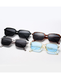 Fashion C04 Light Gray Square Frame Sunglasses