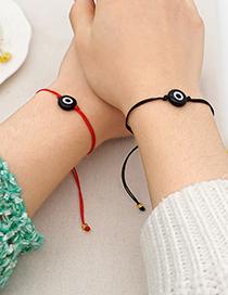 Fashion Red Black Rope Colored Glass Beads Demon Eye Bracelet