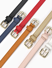 Fashion Zhangqing Thin Belt With Gold Buckle Toothpick Pattern Pin Buckle