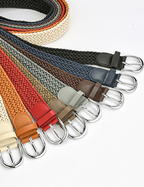 Fashion Zhangqing Twist Wax Rope Pin Buckle Belt