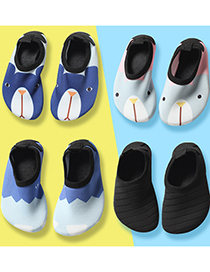 Fashion Blue Small Paw Beach Shoes Cartoon Non-slip Children Swimming Shoes