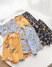 Fashion Dinosaur Cotton Long-sleeved Base Two-piece Childrens Underwear