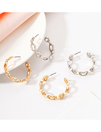 Fashion Silver Color Alloy C Earrings